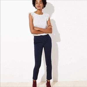 LOFT Petite Velvet Dot Skinny Pant in Marissa fit